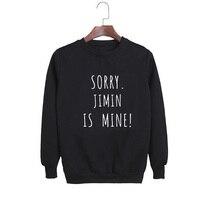 Vsenfo Kpop Bts Sweatshirt Women Men Letters Printed Sorry J Hope Is Mine Sweatshirts Casual Crewneck