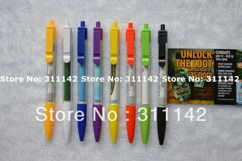 Customized logo discount Banner pen plastic banner pen