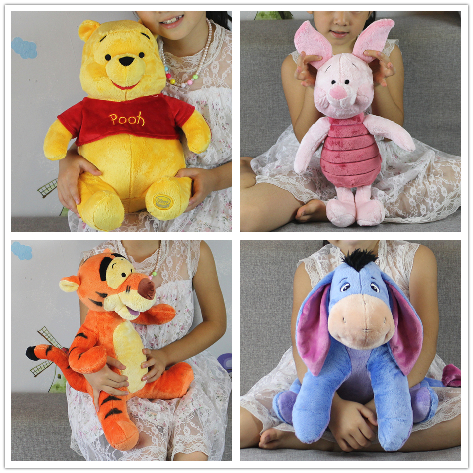 Free Shipping 1pcs mickey bear and Friend Kawaii Pink Piglet pig tigger Eeyore donkey stuffed gift