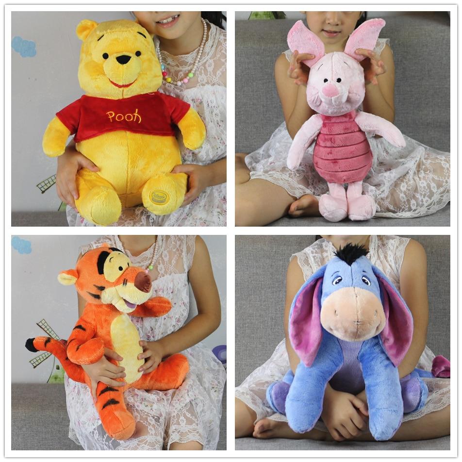 c586d483b2 Frete Grátis 1 pcs mickey urso e Amigo Kawaii Rosa leitão tigger Bisonho  burro brinquedos de