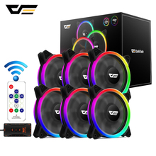 darkFlash Aurora DR12 Pro Computer PC Case Fan 120mm RGB LED ASUS Aura Sync  Cooler Cooling Quiet Adjust Cases Fans
