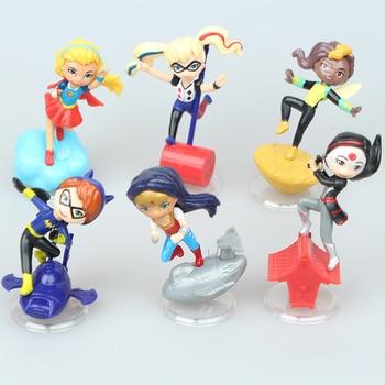 NEW hot 7cm 6pcs/set Wonder Woman Supergirl superman Superhero action figure toys collection doll