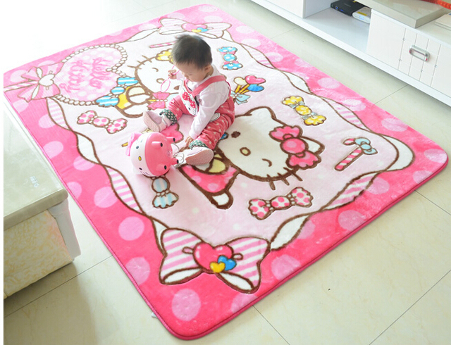 Larger Size 1 35 1 9m Kawaii Hello Kitty Soft Acrylic Rugs