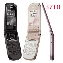 Reformado nokia 3710f original del tirón del teléfono nokia 3710 desbloqueado teléfono celular 3g 3.2mp cámara bluetooth freeshipping
