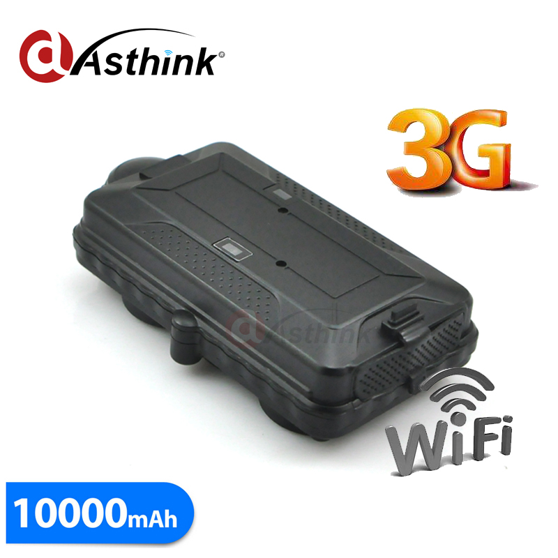 2G 3G WCDMA GPS Car Tracker GPS GSM WIFI positioning with SD card slot 10000mAh battery