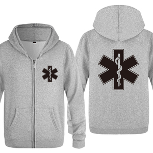 Image 4 - EMT Emergency Medical Technician Hoodies Men 2018 Mens Fleece Zipper Cardigans Hooded Sweatshirts