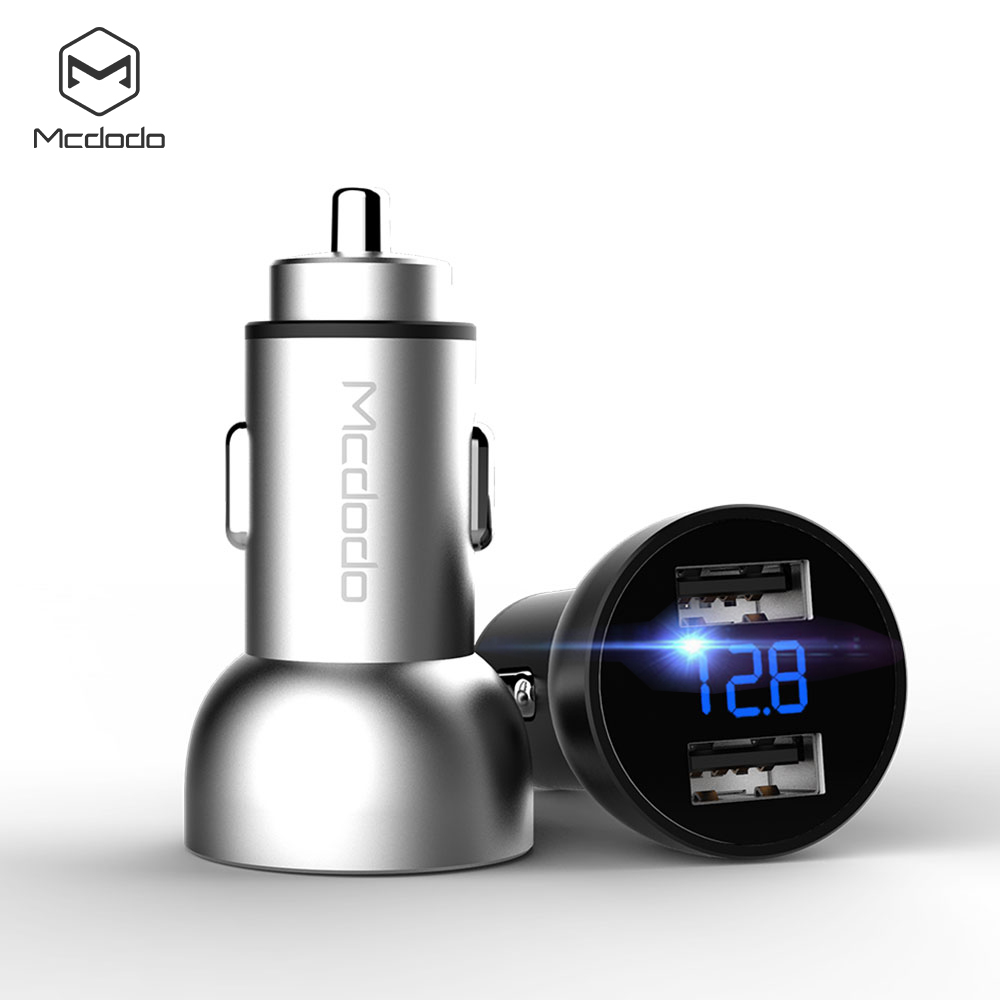 Mcdodo Dual USB Car Charger 3.4A Fast Charging for iPhone 7 8 6 6s 5s with LED Digital Display for Samsung Galaxy S8 Plus Xiaomi