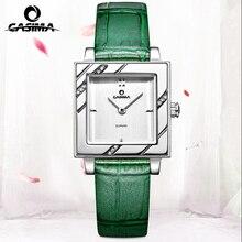 CASIMA Марка Роскошные часы Женщины Моды Платье кварцевые часы Кожаный ремешок водонепроницаемый #2611