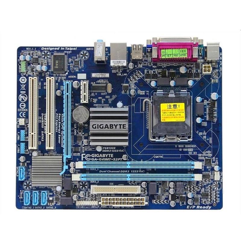 Placa-mãe original para gigabyte GA-G41MT-S2PT lga 775 placa ddr3 G41MT-S2P lga775 g41 desktop g41mt s2 s2p d3 d3p placa-mãe