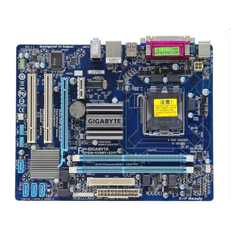 Original Motherboard For Gigabyte GA-G41MT-S2PT LGA 775 DDR3 Board G41MT-S2P LGA775 G41 Desktop G41MT S2 S2P D3 D3P Motherboard
