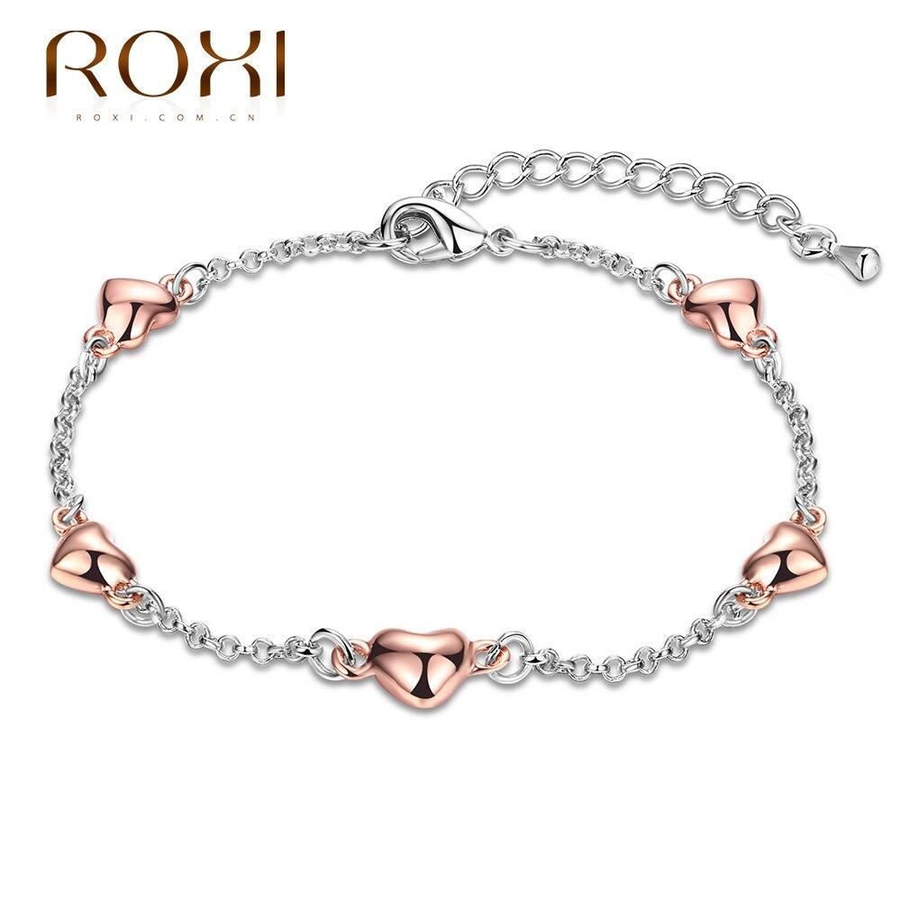 venta caliente online de45a 69716 € 3.14 39% de DESCUENTO|Roxi marca pulsera para las mujeres pulsera de dos  colores amor cadena moda joyería Ketting cadenas señoras para la boda ...