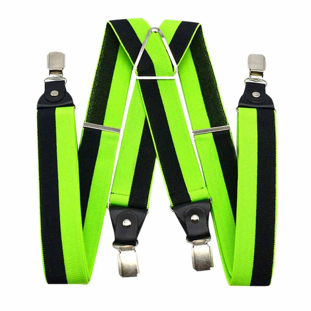 Men's Shirt Stays Cross Braces Women Unisex Shirt Holders Near Adjustable Shirt-Stay Stripe Colorful Suspenders Dropshipping C