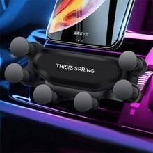 2020 nouveau universel évent voiture montage gravité Auto-Grip voiture Support de téléphone Support pour téléphone dans la voiture pour iPhone X Samsung tablettes