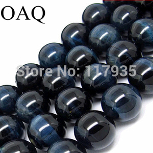 Image 1 - Wholesale Beading 4 14mm Natural Stone Beads Blue Tiger eye Beads Stone Beads for jewelry making