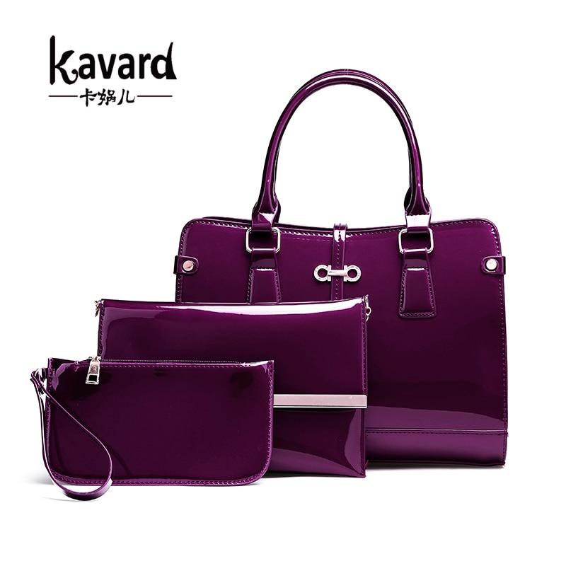 Women Composite Bag 3 pcs/set Luxury Patent Leather Purse and Handbags Famous Brands Designer Handbag Female Shoulder Bag sac composite structures design safety and innovation