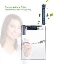 Бутылка для воды прозрачная бутылка для воды с 1 угольным фильтром портативный фильтр плоская бутылка удобный очиститель воды с фильтрующим элементом