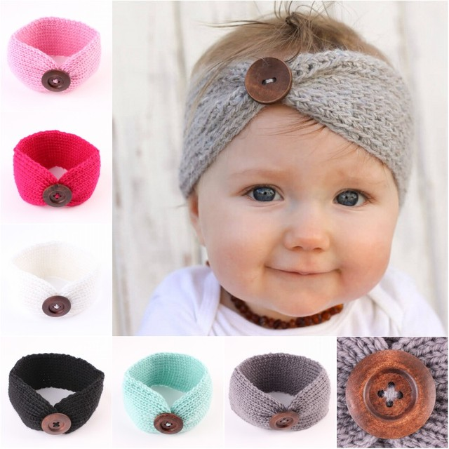 Pasgeboren Tulband Oor Winter Warme Hoofdband Haak Gebreide Haarband