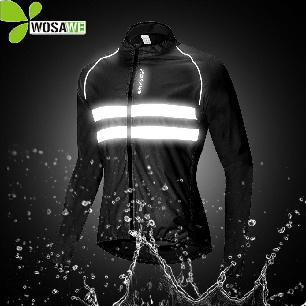 WOSAWE Wasserdicht männer Radfahren Jacken Hohe Sichtbarkeit Windjacke Fahrrad Sport Kleidung Reflektierende Regen Widerstand Bike Mantel