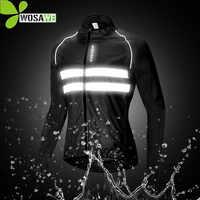 WOSAWE Waterproof Men's Cycling Jackets High Visibility Windbreaker Bicycle Sports Clothing Reflective Rain Resistence Bike Coat