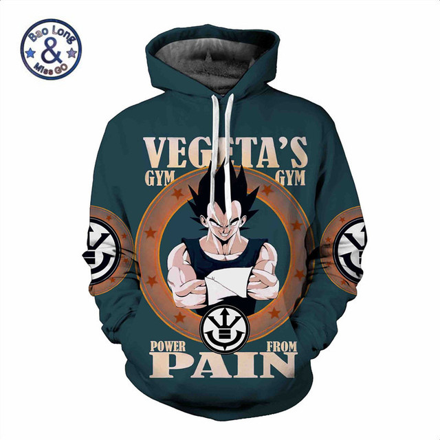 Dragon Ball Z Sweatshirts 3D Vegeta Hoodie