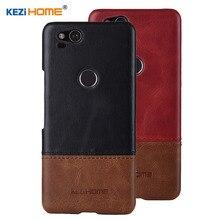 สำหรับ Google Pixel 2 KEZiHOME Luxury Hit สีของแท้หนังกลับปกคลุม capa สำหรับ Google Pixel2 5.0 โทรศัพท์กรณี
