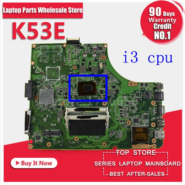 Original K53SD REV:6.0 Laptop Motherboard with i3 CPU USB3.0 Mianboard for Asus K53SD Non-Integrated graphics DDR3 Mianboard s-2 for asus k52jt k52dr laptop motherboard 60 n1wmb1100 rev 2 3 8 video memory non integrated graphics card 100