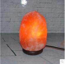 1.5-2kg Hot sale New fashion Himalayan natural salt crystal  lamp Air Purifying with Neem Wood Base, Bulb and Dimmer switch