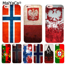 MaiYaCa Noorwegen Polen Portugal Vlag Transparante telefoon case voor iphone 11 Pro 8 7 6 6S Plus X 10 5 XS XR 4 4S Coque Shell(China)