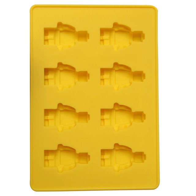 DIY Brick Blocks Mini Figure Robot Ice Cube Tray Mold Chocolate Jelly Jello Cake Silicone Mold Tools Silicone Baking Pan