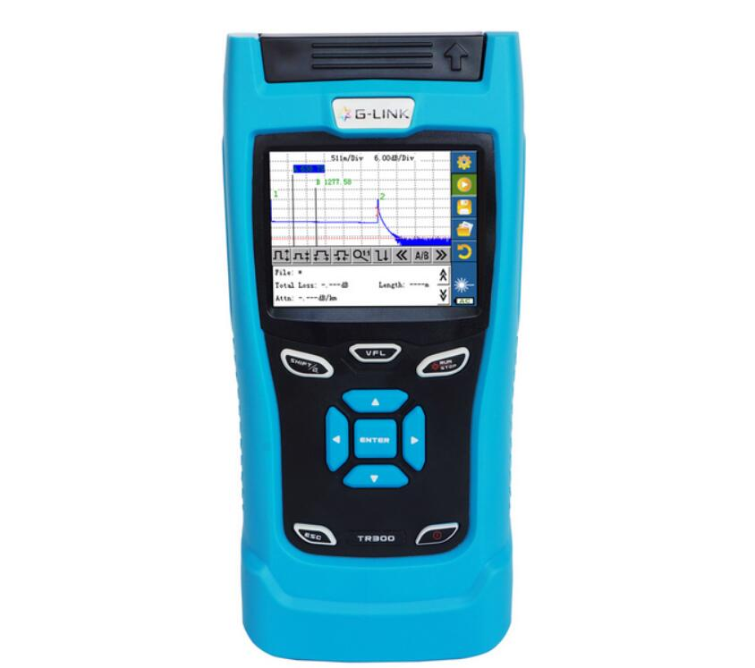 G LINK Handheld OTDR TR306 SM OTDR 1310/1550nm, 32/30dB,Integrated VFL, Touch Screen Optical Time Domain Reflectometers BY DHL