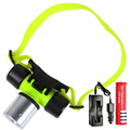 Diving Light Underwater Headlight 2000LM T6 Dive Headlamp LED Waterproof 60m Swimming Torch +18650 rechargeable battery Charger