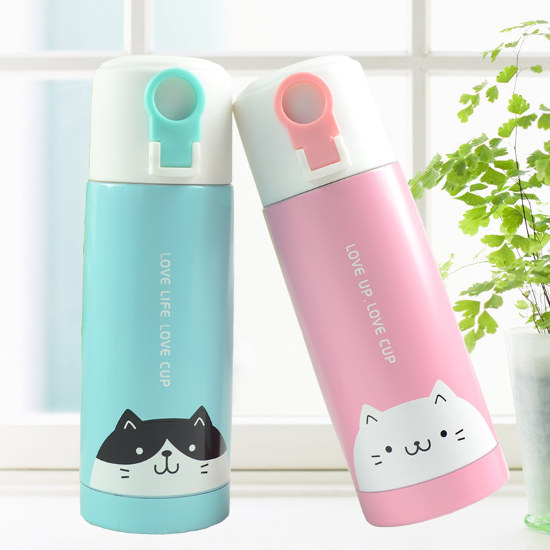 Manufacturer Produces Thermos Cup Cartoon Creative Cute Portable Stainless Steel Male And Female Students Children S