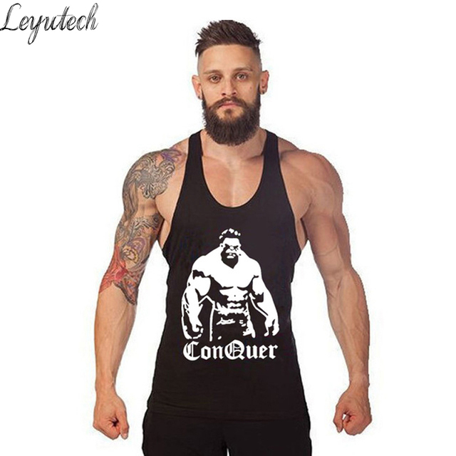 Brand Clothing Bodybuilding Fitness Men Tank Top Men Gyms Shirt Vests  Stringer Sportswear Undershirt Colete Men Tank Tops Regata bf8a41d118a