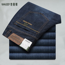 Мужские утепленные джинсы ICPANS, темно синие повседневные брюки из денима, большие размеры 28 40 42 2019, Осень зима 8231
