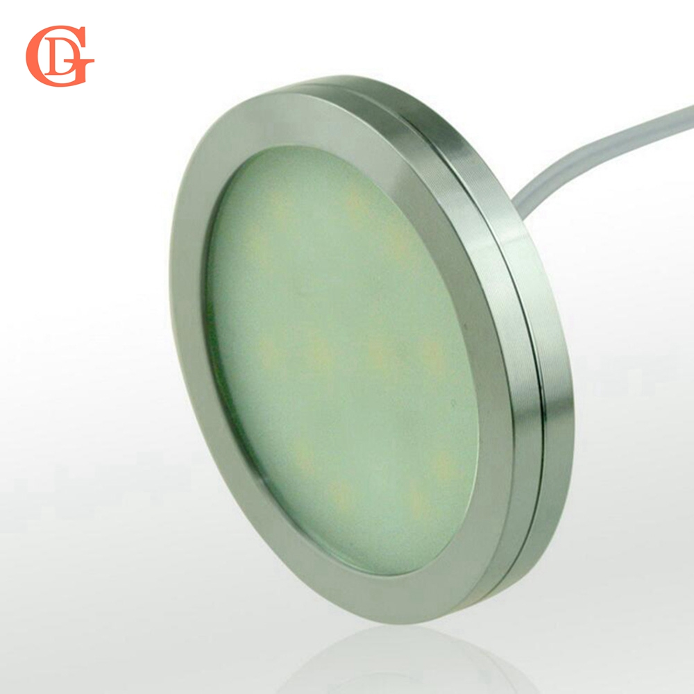 1pc Dimmable 12V DC 2.5W LED Under Cabinet Lighting Puck Light for Kitchen,Counter LED Cabinet light No Power Supply No Dimmer