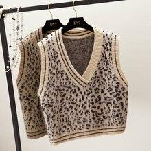 Fashion preppy style short design sleeveless pullover sweater female autumn spring vest women V-neck Solid color girl clothing