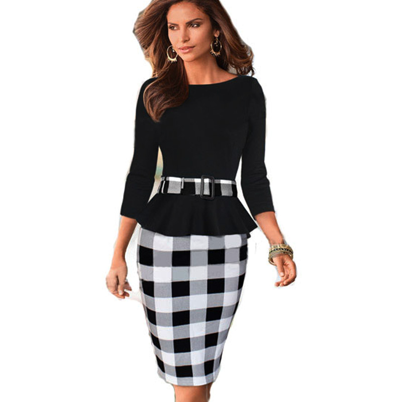 ddb06c98e2 Aamikast kobiety suknie hot sprzedaż nowe mody elegancki temperament charm  strona Bodycon Print Sukienki Z Paskiem Rozmiar S M L XL XXL