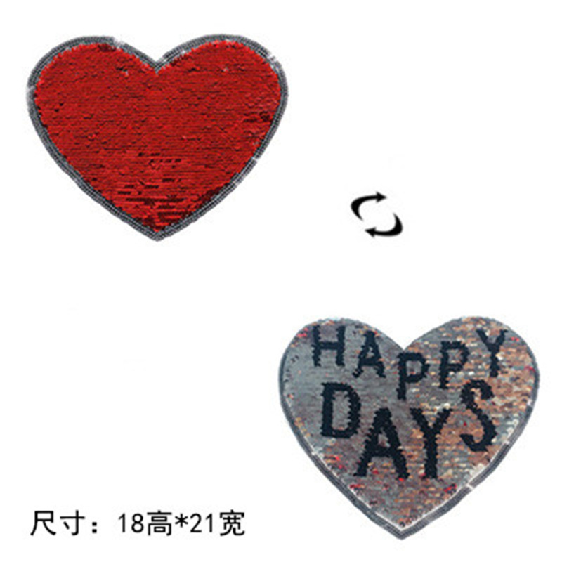 2019 New Fashion DIY Applique  Embroidery  Costume Decoration  Decals  Accessories Heart-shaped