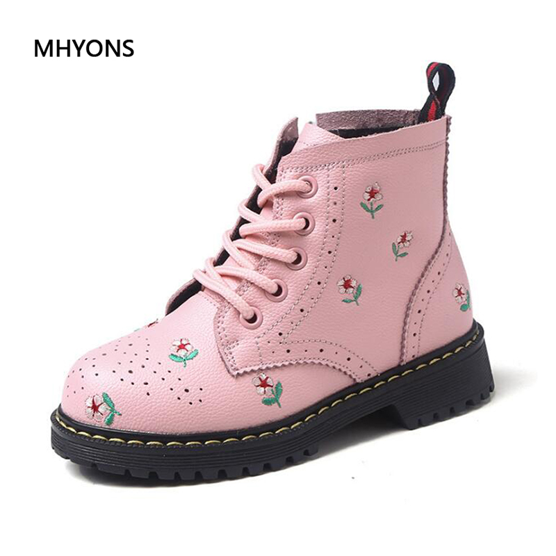 MHYONS 2018 New Fashion Girls Boots Printing Children Shoes Girl Cowhide Cute Comfy Ankle Boots Kids Girl waterproof Martin BootMHYONS 2018 New Fashion Girls Boots Printing Children Shoes Girl Cowhide Cute Comfy Ankle Boots Kids Girl waterproof Martin Boot