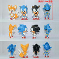4pc/set Sonic Boom Rare Dr Eggman Shadow The Hedgehog Knuckles Tails Amy Super metal Sonic pvc action figure doll model toy 7CM