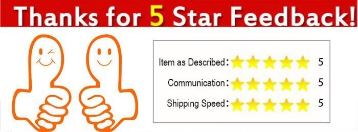 thanks for 5 star feedback