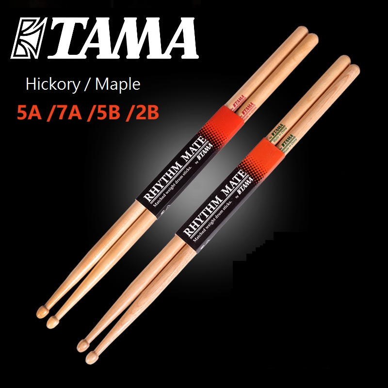 TAMA Rhythm Mate Drum Stick HRM 5A 5B 2B 7A Hickory / Maple Drumsticks
