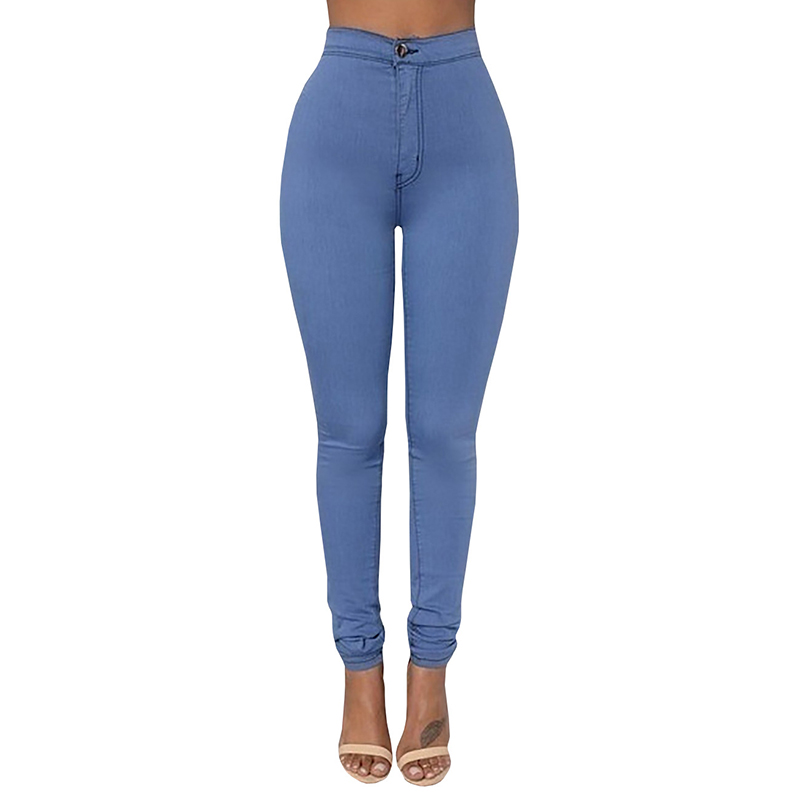 Autumn Winter High Waist Skinny Women's Pencil   Jeans   Trousers High Stretch Skinny Woman   Jeans   Clothing