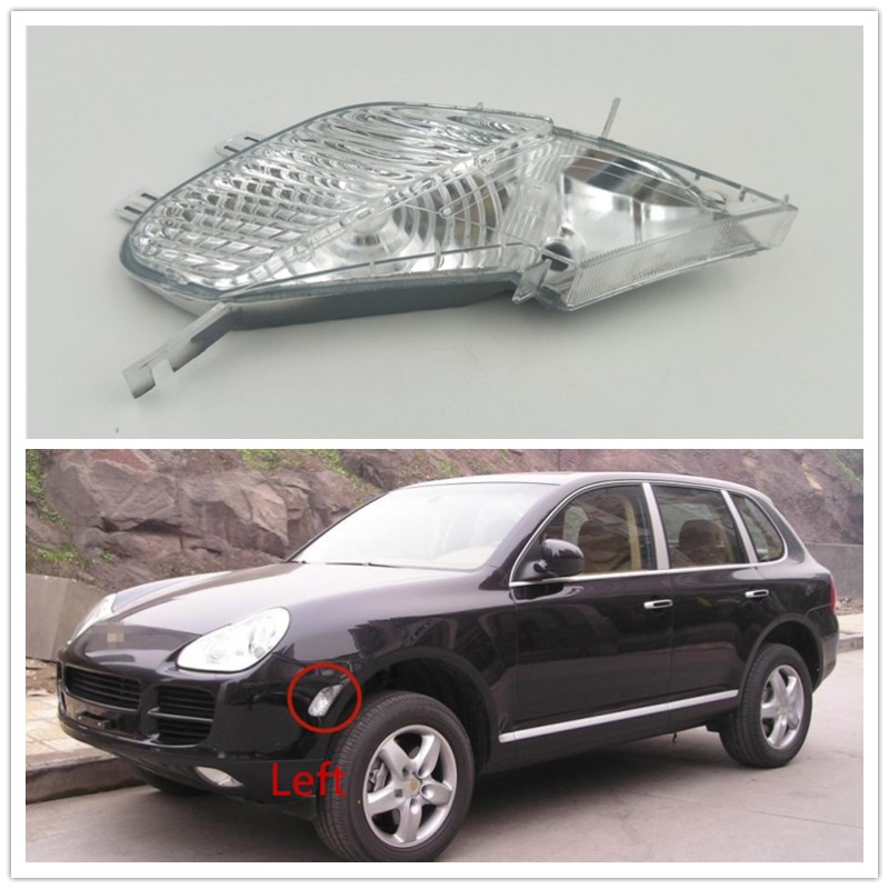 For Porsche Cayenne 2003 2004 2005 2006 Front Side Marker Light Clear Indicator Turn Lamp