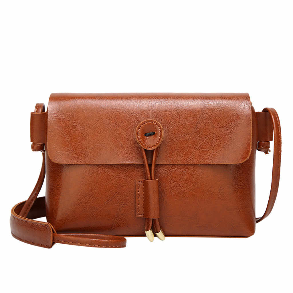 Vrouwen Lederen Tas Flap Solid Schouder Messenger Crossbody Tassen Fashion Dames Effen Kleur Handtas Purse Schouder Messenger Bag