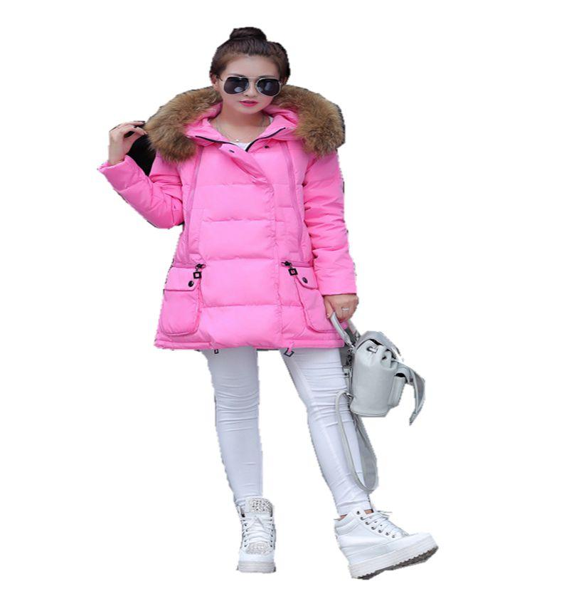 2017 Latest Wnter Fashion Women Down jacket Hooded Thickening Super warm Medium long Coat Long sleeve Loose Big yards Coat NZ15 2017 new winter fashion women down jacket hooded thick super warm medium long female coat long sleeve slim big yards parkas nz18