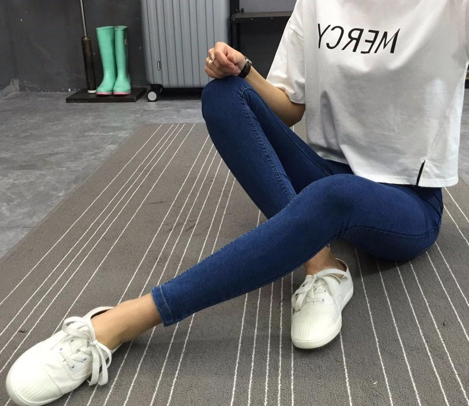 BIVIGAOS Basic Skinny Womens Jeans Ankle Pencil Pants Slim Elastic Denim Pants Jean Leggings Female Cotton Jeggings Jeans Women 34
