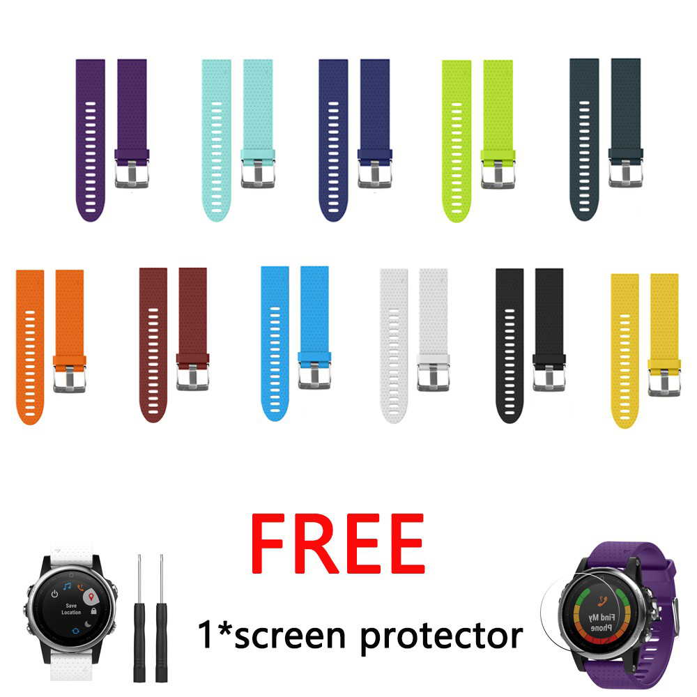 New Quick Install Easy Soft Silicone Band Strap for Garmin Fenix 5S Smart Watch Replacement Wrist strap for fenix 5s bands 20mm