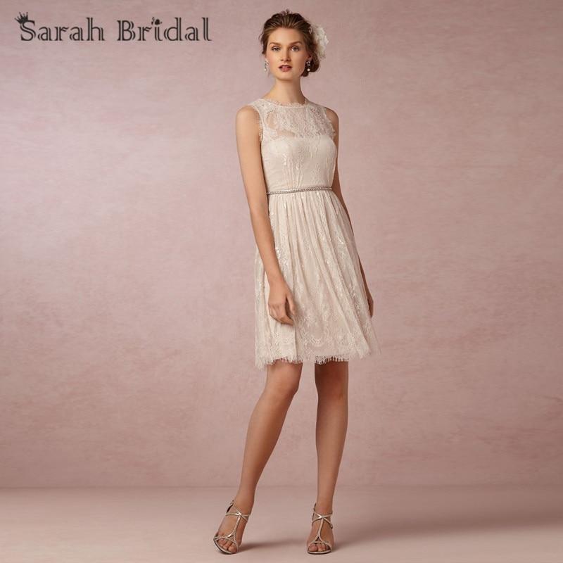 Hot sale elegant lace short bridesmaid dresses 2015 knee for Short wedding dress sale