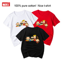 Journey To The West  Boys/Girls Cartoon Print T Shirt Kids Funny Clothes Boys and Girls Summer White Short Cotton